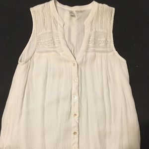 Anthropologie Button Down Tank